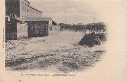 Vintage By A.Z. Pinsonneault - Power Dam Rivière Magog River Barrage - Sherbrooke Québec - Unused - 2 Scans - Sherbrooke