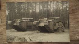 Carte Photo Char D'assaut Tank Ww1 - War 1914-18