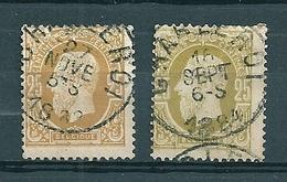 32 Gestempeld CHARLEROI - 1869-1883 Leopold II
