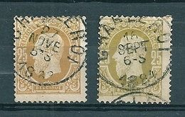 32 Gestempeld CHARLEROI - 1869-1883 Léopold II