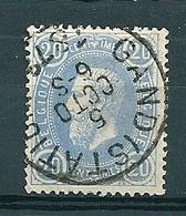31 Gestempeld GAND STATION - 1869-1883 Léopold II