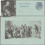 Allemagne 1900. Entier Postal TSC. Peinture, Les Noces De Cana. Miracle, Transformation De L'eau En Vin. Chat, Mariage - Vins & Alcools