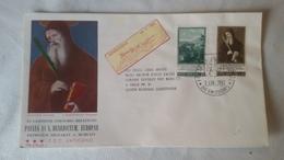 Enveloppe 1°  Jour...poste VATICAN ..1965 ..PAULUS  VI  S. BENEDICTUM. EUROPAE - Joint Issues