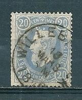 31 Gestempeld WILLEBROECK - 1869-1883 Léopold II