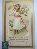 CPA ILLUSTRATION  Découpis - Fillette Jouant Du Violon - 1er Avril -  TTBE - 1er Avril - Poisson D'avril