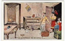 VACANZE - LE SORPRESE DEL RITORNO - Vedi Retro - Formato Piccolo - Illustratori & Fotografie