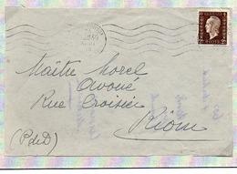 France Dulac N° 692 Y. Et T. Empreinte RBV Du 23/08/1945 Sur Devant De Lettre - Marcophilie (Lettres)