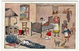VACANZE - L'ALLOGGIO IN VILLEGGIATURA - Vedi Retro - Formato Piccolo - Illustratori & Fotografie