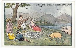 VACANZE - DELIZIE DELLA VILLEGGIATURA - Vedi Retro - Formato Piccolo - Illustratori & Fotografie