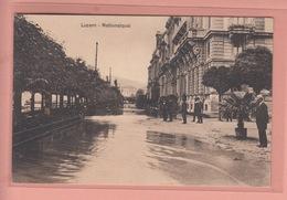 OUDE POSTKAART - ZWITSERLAND - SCHWEIZ -   SUISSE -   LUZERN - HOCH WASSER - LU Luzern