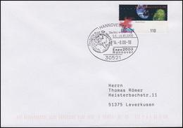 2130 Weltausstellung EXPO 2000, EF FDC ESSt Hannover Globus & World Net 14.8.00 - Weltausstellung