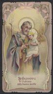 CS35    Santini, Image Pieuse, Holy Card - S. GIUSEPPE Patrono Della Buona Morte - Santini