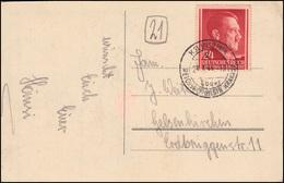 78 Freimarke Auf Osterkarte KOLBUSZOWA über REICHSHOF (DISTR. KRAKAU) 23.3.44 - Besetzungen 1938-45