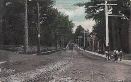 Vintage 1906 - Sherbrooke Québec - Rue Melbourne Street - Animated - Dos Simple Back - Stamp & Postmark - 2 Scans - Sherbrooke