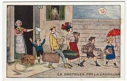 VACANZE - LA PARTENZA PER LA CAMPAGNA - Vedi Retro - Formato Piccolo - Illustratori & Fotografie