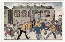 VACANZE - LA PARTENZA DEI MARITI - Vedi Retro - Formato Piccolo - Illustratori & Fotografie