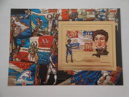 1989 Centrafricaine Michel B 477 ** MNH French Revolution Française Cote 17.00 € Timbre En OR  Carnot 1753-1823 - Centrafricaine (République)