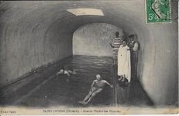 BAINS D'AVENE (Hérault ) : Grande  Piscine Des Hommes  Animée. (1917 ) - Autres Communes
