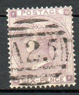 GRANDE BRETAGNE - 1862 - N° 22 - 6 D. Violet - (Victoria) - Gebraucht