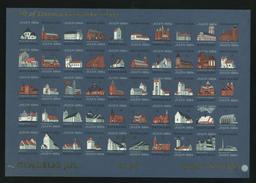 Denmark. Christmas Sheet 1964 Unfolded MNH Imperforated. Church - Full Sheets & Multiples