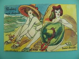 ST/227- 44- Saint-Brevin-l'Océan -2 Minettes Sur La Plage- Illus: Van Rompaey -Voy 1949 - Saint-Brevin-l'Océan