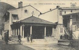 BOURG St MAURICE -Place Charles Albert 1908 - Bourg Saint Maurice