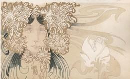 LE HAVRE / 93 RUE DE PARIS  / AU PRINTEMPS / NOUVEAUTES / MAGNIFIQUE CARTE ILLUSTRATEUR MUCHA ? / SYMBOLISME /FLEURS - Illustratoren & Fotografen