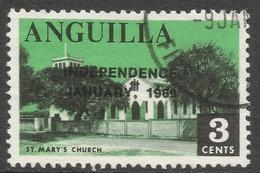 Anguilla. 1969 Independence. 3c Used. SG 52c - Anguilla (1968-...)