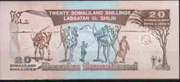 B 108 - SOMALIland Billet De 20 Shillings état Neuf - Somalia