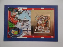 1988 Centrafricaine Michel B 448 ** MNH Sport Boxe  Timbre En OR  JO D'été De Séoul - Centrafricaine (République)