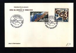 Monaco 1967 Michel 863 + 868 FDC - 1967 – Montreal (Kanada)
