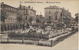 VENISSIEUX - RHONE - MONUMENT GERIN -  CARTE SEPIA - - Vénissieux