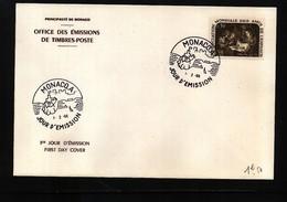 Monaco 1966 Michel 823 FDC - 1967 – Montreal (Canada)