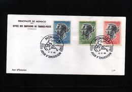 Monaco 1966 Michel 844-846 FDC - 1967 – Montreal (Kanada)