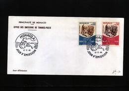 Monaco 1966 UNESCO Michel 842-843 FDC - 1967 – Montreal (Kanada)