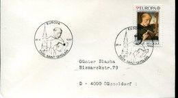 42280 Belgium, Special Postmark 1980,  St. Benedict,  St. Benoit De Nursie, - Cristianismo