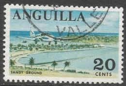 Anguilla. 1967-68 Definitives. 20c Used. SG 25 - Anguilla (1968-...)