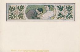 Cpa Illustrée Par Alexander Pock? - Wiener Künstler-Poskarte - Philipp&Kramer - Couple - Fleurs - Art Nouveau- Vers 1900 - Illustrateurs & Photographes