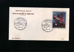 Monaco 1968 Michel 890 FDC - 1967 – Montreal (Kanada)