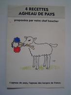 DEPLIANT : PUBLICITE / RECETTES AGNEAU DE PAYS / Illustration SAVIGNAC - Publicités