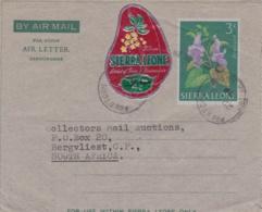 SIERRA LEONE  : Aérogramme Pour L'Afrique Du Sud Avec Complément - Sierra Leone (1961-...)