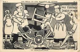 Themes Div-ref AA167- Illustrateurs - Illustrateur -santé - Humour - La Thoracolplastie !! - - Santé