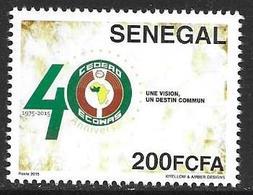 Senegal 2015 Ecowas Cedeao Joint Issue Michel No. 2229 Mint MNH Neuf Postfrisch ** - Senegal (1960-...)
