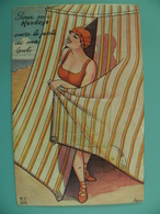 ST/230- 64- HENDAYE -Baigneuse  - Illus:Séen.  -  Voy 1927 (RARE) - Hendaye