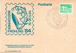 "(DDR-B2) DDR Sonderkarte ""Stadtbezirksfest MARZAHNER FRÜHLING'84"", EF Mi 2483, SSt. 14.5.1984 BERLIN-MARZAHN 7 - [6] République Démocratique"