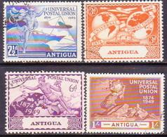 ANTIGUA 1949 SG #114-17 Compl.set Used UPU - 1858-1960 Kolonie Van De Kroon