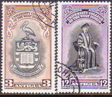 ANTIGUA 1951 SG #118-19 Compl.set Used BWI University - Antigua & Barbuda (...-1981)