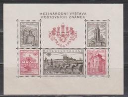 CZECHOSLOVAKIA Scott # 719 MH - Souvenir Sheet - Disturbed Gum & Ink Transfer - Czechoslovakia