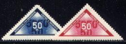 CZECHOSLOVAKIA, BOHEMIA AND MORAVIA, NO.'S EX1-EX2, MH - Unused Stamps