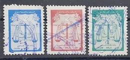 AS5 - Syria Lawyers Revene Stamps -  3L, 4L, 5L - Defending Fee - Retirement Fund - Rare - Syrië